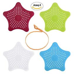 YoungRich 4 Starfish Shower Drain Cover Hair Catcher 1 Drain