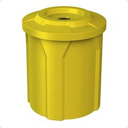 42 GALLON TRASH RECEPTACLE WITH 4 INCH RECYCLE LID & LINER |