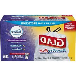 45 Bags Glad Lavender Breeze  ForceFlex Odor Shield 13 Gallo