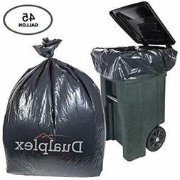 45 gallon black trash bags 1 2
