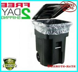 45 GALLON WHEELED TRASH CAN Lid Garbage Container.Outdoor Wa