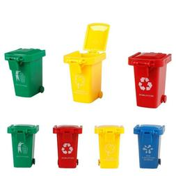 4Pcs/Set Mini Garbage Trash Can Toys Truck Cans Recycling Ve