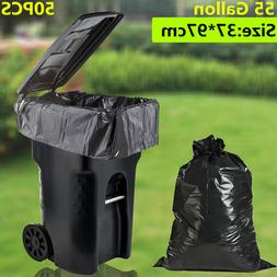 50 Large 55 Gallon Commercial Trash Can Bags Heavy Garbage D