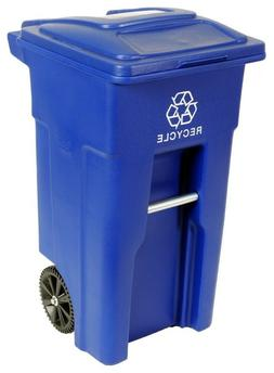 50x Recycle Bin Rolling Cart Trash Can Waste Outdoor Heavy D