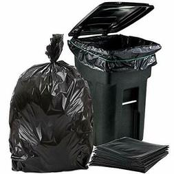 64-65 Gallon Trash Can Liners for Toter 1.5 Mil Black Heavy