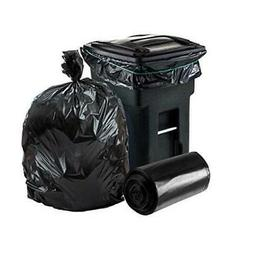 64-65 Gallon Trash Can Liners for Toter │ 1.2 Mil │ Blac