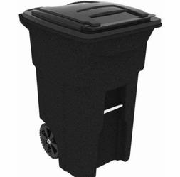 64 Gallon 2-Wheeled Garbage Trash Can Cart, Wastebasket, Bin