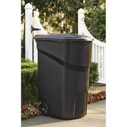 45 Gallon Large Rolling Trash Can Wheeled Waste Garbage Bin