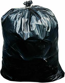 65 Gallon Trash Bags - 1.5 Mil - Black Heavy Duty Garbage Ca