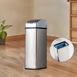6L Sensor Dustbin Touchless Trash Can Garbage Bin Wastebaske