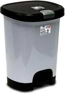 7 gallon step on trash can kitchen