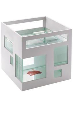 "Umbra 8"" FishHotel Glass 2 Gallons Mini Aquarium Tank Bowl"