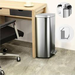 8 Gallon Stainless Steel Step Trash Can Garbage Bin Dustbin