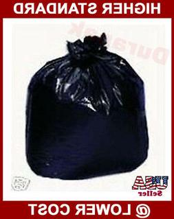 "80~ 40x46"" 45 Gallon Black 1.3 mil LDPE Garbage Trash Can Li"