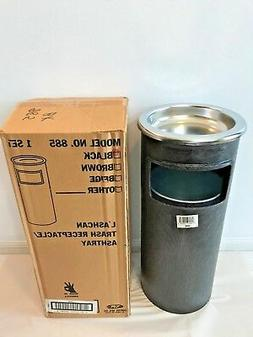 Continental 885BK, Plastic L'Ashcan Waste Receptacle and Ash