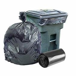 95-96 Gallon Garbage Can Liners │ 2 Mil │ Black Heavy Du