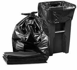95-96 Gallon Garbage Can Liners,  Large Black Trash Bags, 61