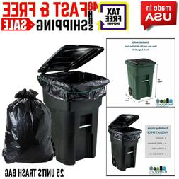95 Gallon Garbage Bags Lid Garbage Container Outdoor Waste B