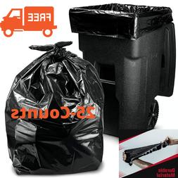 96 Gallon Wheeled Outdoor Trash Bag Can With Lid Garbage Con