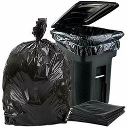 96 Gallon Black Trash Bags, Large  Plastic Garbage Bags, 25/