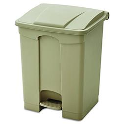 Safco Products 9922TN Plastic Step-On Trash Can, 17-Gallon,
