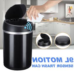 9L Automatic Touchless Stainless Steel Dustbin Garbage Trash
