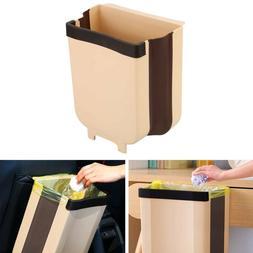 9L Hanging Trash Can Waste Bin Kitchen Cabinet Door Trash Ga