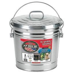 Behrens 6106 6 Gallon Galvanized Garbage Trash Storage Can L