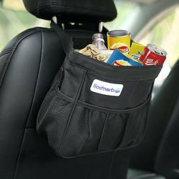 Car Trash Bin, cherrboll Garbage Can Back Seat Organizer Sto