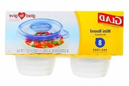 Glad Food Storage Containers - Mini Round Containers - 4 Oun