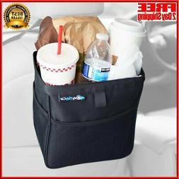 MyTidyCar Car Trash Can - Premium with Pockets & Waterproof