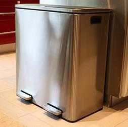Oliver Smith - Extra Large Step Trash Can Recycler Combo, St