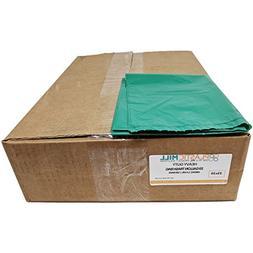 PlasticMill 32 Gallon, Green, 1.2 MIL, 33x39, 100 Bags/Case,