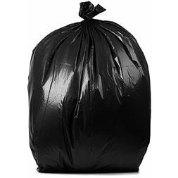 PlasticMill 40-45 Gallon, Black, 1.5 Mil, 38x46, 100 Bags/Ca