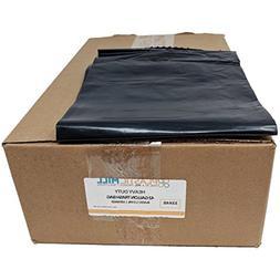 PlasticMill 42 Gallon, Black, 1.5 MIL, 33x48, 100 Bags/Case,