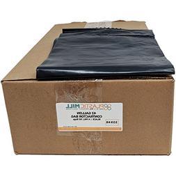 PlasticMill 42 Gallon, Black, 4 MIL, 33x48, 50 Bags/Case, Ga