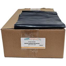 PlasticMill 42 Gallon, Black, 6 MIL, 33x48, 25 Bags/Case, Ga