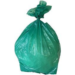 PlasticMill 50-60 Gallon, Green, 1.2 Mil, 38x58, 100 Bags/Ca