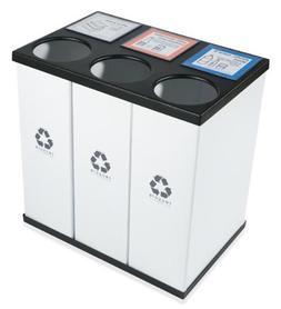 RecycleBoxBin Plastic Light Weight Large Triple Recycling Bi