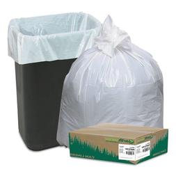- Recycled Tall Kitchen Bags, 13-16gal, .8mil, 24 x 33, Whit
