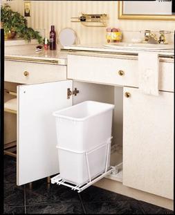 Rev-A-Shelf 20Qt Pull-Out Waste Bin White