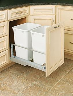 Rev-A-Shelf - 5349-18DM-2 - Double 35 Qt. Pull-Out Brushed A