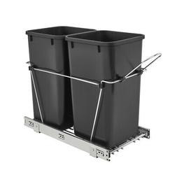 Rev-A-Shelf - RV-15KD-18C S - Double 27 Qt. Pull-Out Black a