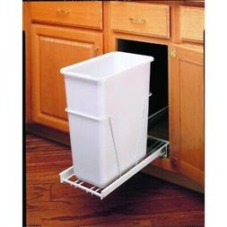 Rev-A-Shelf RV-9PB 30 Qt Pull-Out Waste Container, White