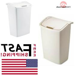 Rubbermaid 11.25-Gallon Dual Action Wastebasket