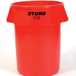 Rubbermaid Commercial BRUTE Trash Can, 44 Gallon, Red, FG264