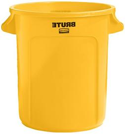 Rubbermaid Commercial Vented BRUTE Trash Can, 10 Gallon, Y