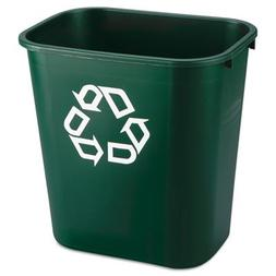 Rubbermaid FG295606GRN Garbage Can Deskside Recycling Contai