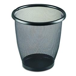 Safco Products 9716BL Onyx Mesh Small Round Wastebasket, 3-Q