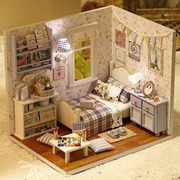 Sunshine DIY Wooden Miniatures Doll House Furniture Handmade